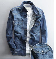 Denim Material Jeans shirts Manufacturers fashion cotton men jeans shirt