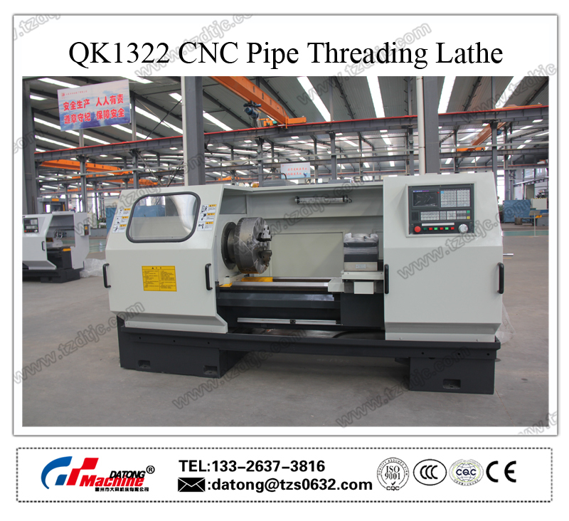 High Quality QK1322 CNC Pipe Threading Lathe machine(Large Bore Lathe)(Large Spindle Bore Lathe)
