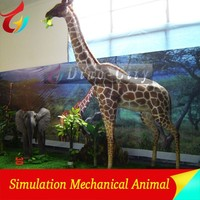 High Simulation Park Decoration Mechanical Giraffe Sculpture