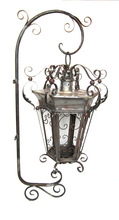 Outdoor Antique Hanging Lantern with Bracket