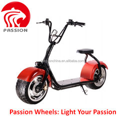 1000W Brushless Adult Electric scrooser city Scooter, 2 Wheels Electric Motorcycle, Harley style scooter with Aluminum Rims