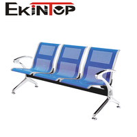 Public Area Stainless Steel 3-Seaters Chairs Airport Waiting Chair