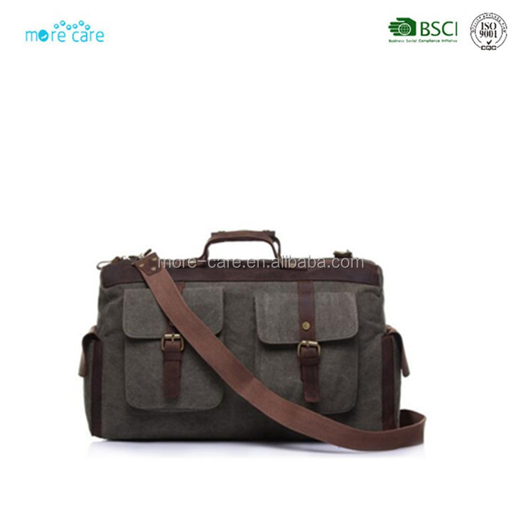 china cheap leather canvas duffle bag mens luggage