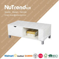 multifunction drawer tv stand with led lighting with storage