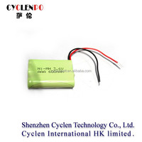 Factory price 3.6v 600mah ni-mh aaa battery pack 3.6v 600mah ni-mh battery pack aaa 600mah 3.6v