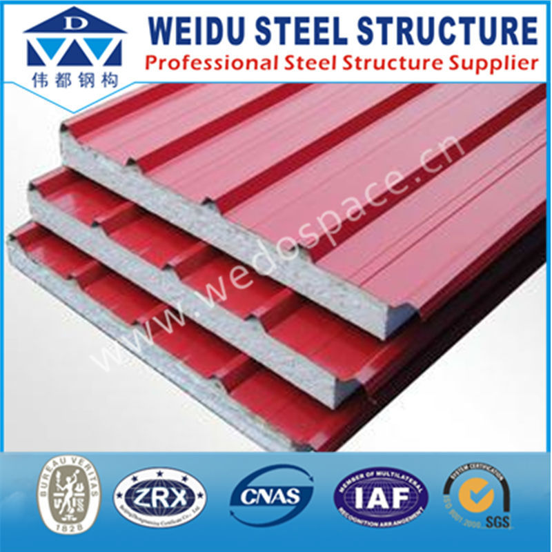2017 polyurethane aluminum eps sandwich panel for warehouse