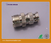 UHF female to BNC male rf coaxial connector adapter