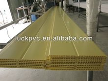 Yellow Groove PVC Panel for House