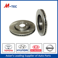 China rotor parts brake disc pad for bajaj pulsar 43512-12621 Corolla