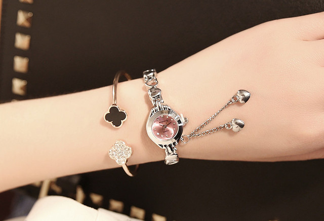 Famous Brand KIMIO Luxury Watch Women Small Quartz-watch Heart Love Band Fashion Ladies Bracelet Watches Women Watches Female