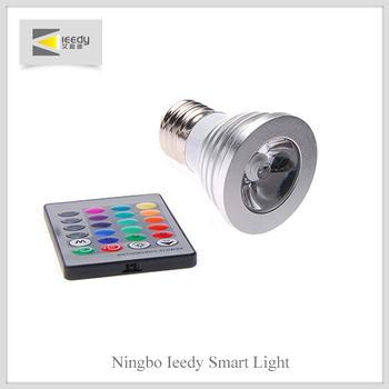 E27 GU10 3W led spotlight Remote Control 16 Color RGB Led Bulb Light