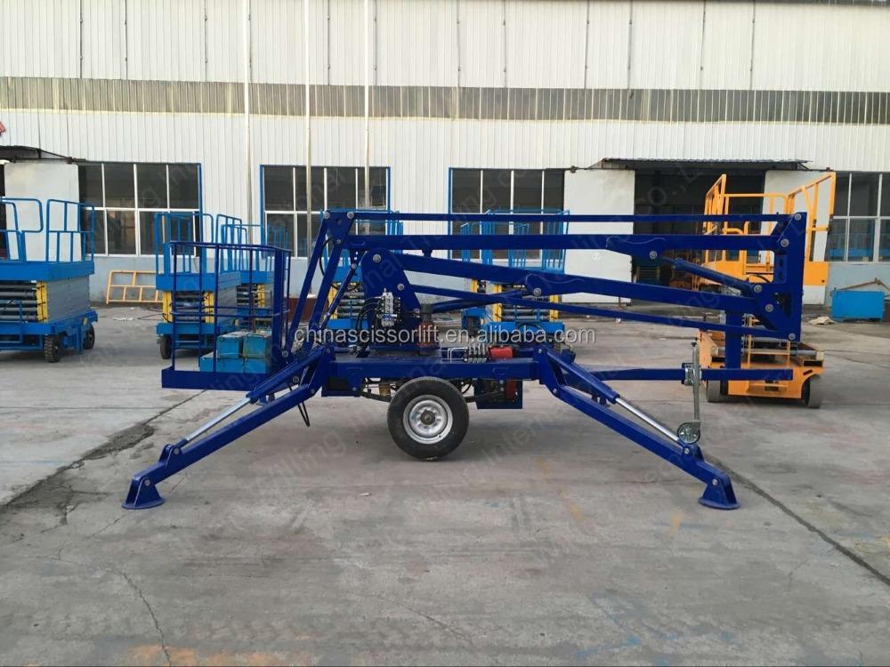 Hydraulic Lift Trailers Sales : Hydraulic trailer boom lift mobile portable skylift m