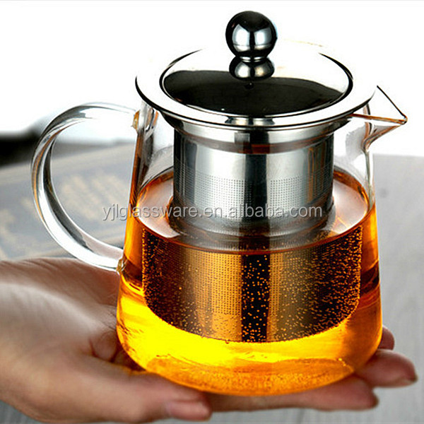 hot selling mouth blown available sizes heat resistant glass teapot
