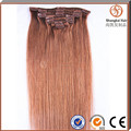 2016 Fcctory best selling hight Quality Brazilian remy clip in hair extension.