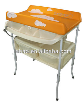 comfortable and soft changing table baby bath station with animal printing baby product