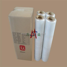 china Handy Stretch holographic LDPE shrink film plastic film rolls 4rolls