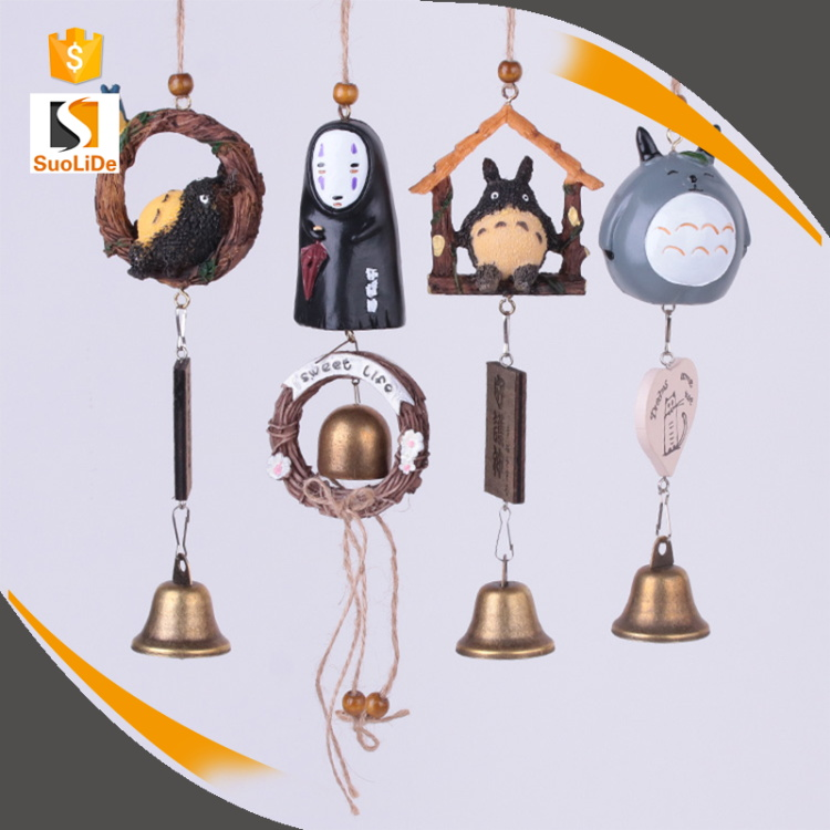 2017 new room cute metal bell christmas wind chime hanging decoration