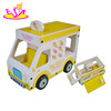 new design kids wooden ice cream truck toy for sale W04A302