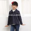 Girls latest design short long sleeve turn-down collar coat with ruffles