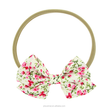 New Baby Printed Top Knot <strong>Headband</strong> For Girl Hair Fashion Flower Baby Nylon Spandex <strong>Headband</strong> Girl Elastic Head Wrap Accessories