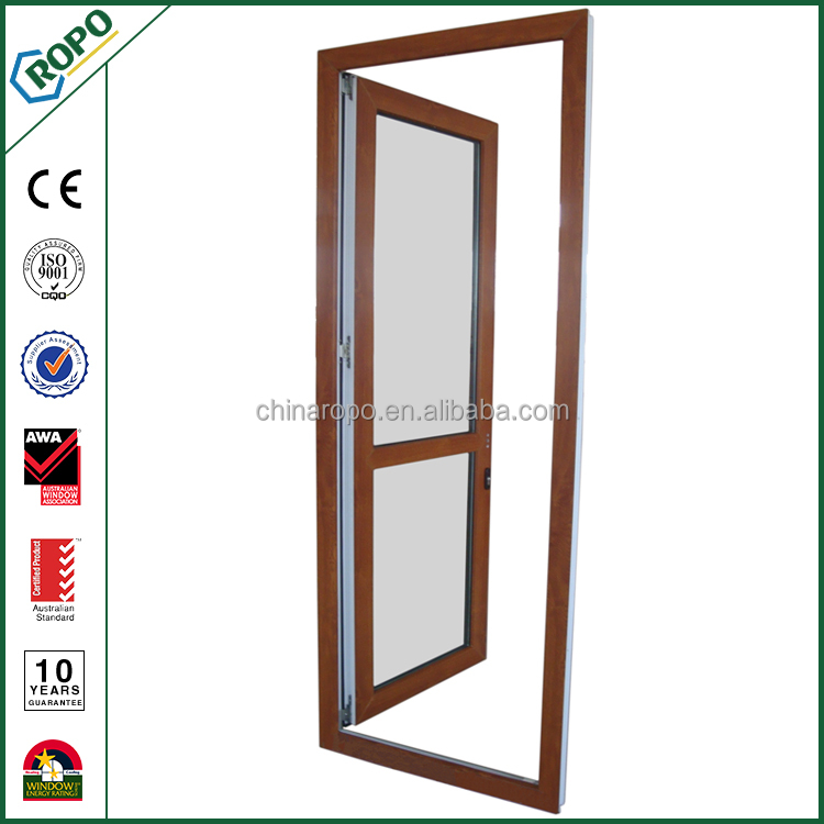 PVC swing glass door used exterior french doors for sale