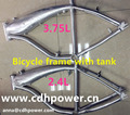 gasoline moped bicycle frame/Bicycle V frame with 2.4L tank/silver frame