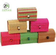 High quality custom handmade lovely jewelry display wooden Case bamboo storage box
