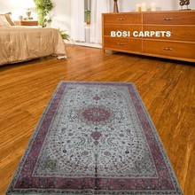 5x8ft Chinese hand knotted silk living room pink color carpet oriental carpets on sale