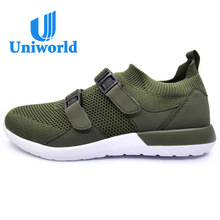 Brand Sports Buckle Kint Olive Green Casual Mens Running Shoes