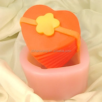 heart soap mold Silicone rubber lovely 3D toy soap moulds H0002