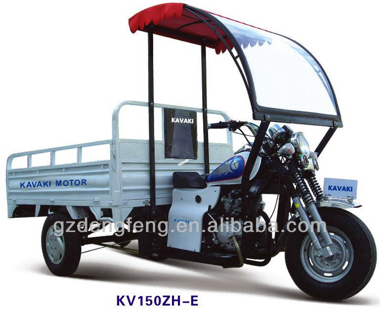 2013 New Products 150cc&200cc Sky blue MTR CargoTricycle KV150ZH-E4 Factory direct sales Three wheel motorcyle