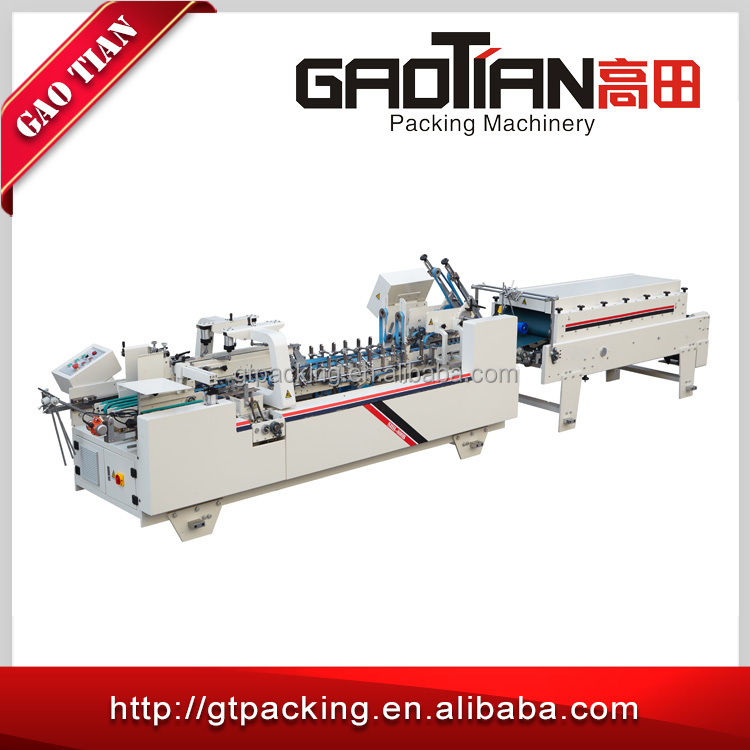 China factory sales CE flexo automatic folder gluer machine for carton