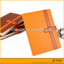 Bulk cheap fast delivery time pu leather handmade notebook and pen gift set
