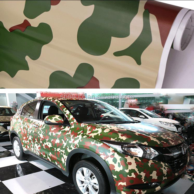 New arrival Digital printing military vinyl car wrap camouflage
