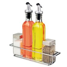SINOGLASS trade assurance 4 pcs square oil vinegar cruet set salt and pepper cruet