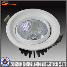 round recessed mounted 5w 15 watt 20w PF0.9 cob led lux ceiling down light