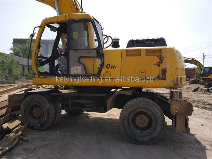 Used Excavator Cheap Price Hyundai R200W-5 High Quality Wheel Excavator