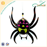 Halloween party decoration Metal with glass Halloween spider ornament Halloween ornament