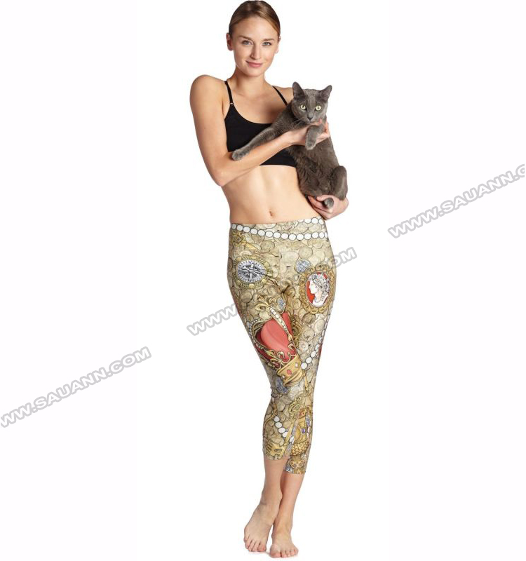 OEM Service Breathable Athletic Pearl Performance Sports Fitness Gym Leggings Pants Yoga Apparel Wholesale