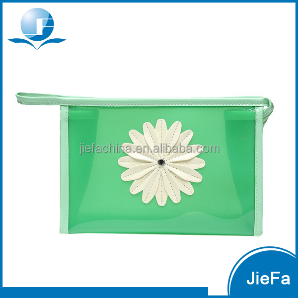 exquisite high quality PVC embroidery wash storage cosmetic dressing bags