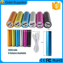 Gift usb tube cylinder shape portable mini cross power bank cross 2600