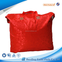 High quality Custom Logo transparent plastic tote bag zipper PVC quilt bag