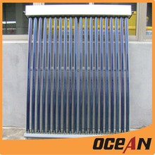 Evacuated thermal solar collector for swimming pool