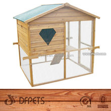 DFPets Durable wire mesh & wooden bird cage