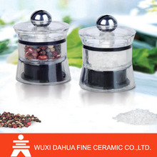 Easy to carry acrylic Manufacture Widely Used mill grinder tops spice mills in the super market.