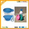 colorful collapsible silicone pet travel food bowl/portable pet travelling bowl
