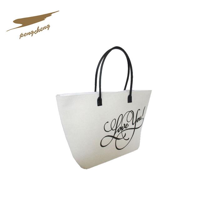 Ladys Canvas Bag Handbags Fashion Paper Shopping Bag With Logo Printing