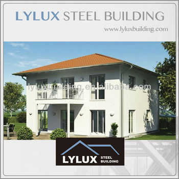 Luxury steel structure prefabricated villa & prefab villa