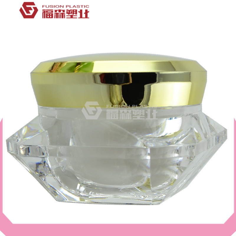 acrylic container jar diamond shape popular sale wholesale