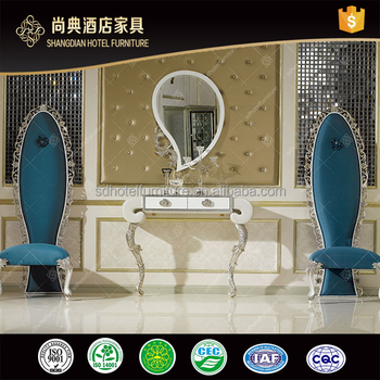 Luxury Hotel Lobby Console Table With Mirror
